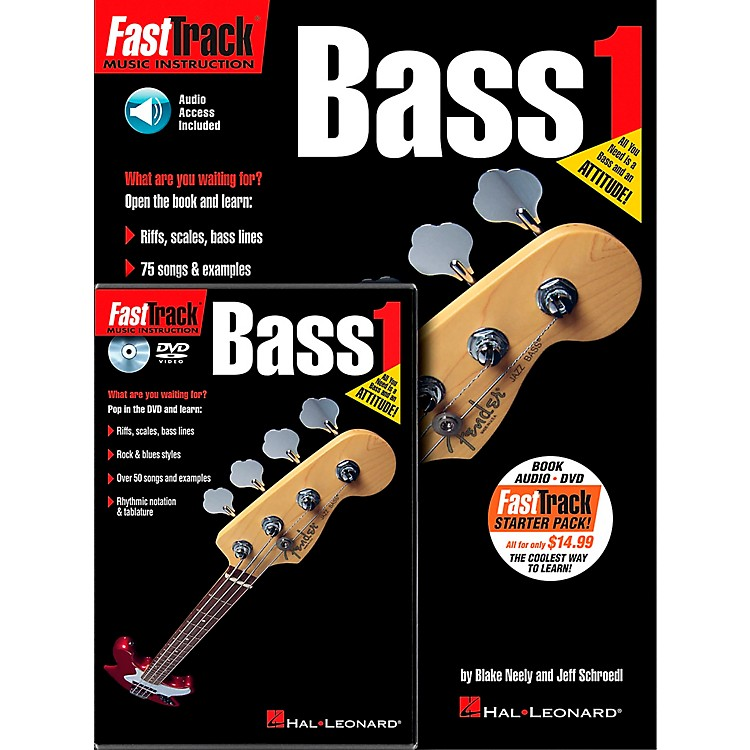 Hal LeonardFastTrack Bass Method Starter Pack - Includes Book/CD/DVD