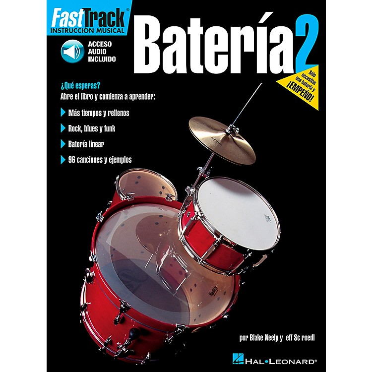 Hal Leonard FastTrack Drum Method Book 1 Book/CD - Spanish Edition