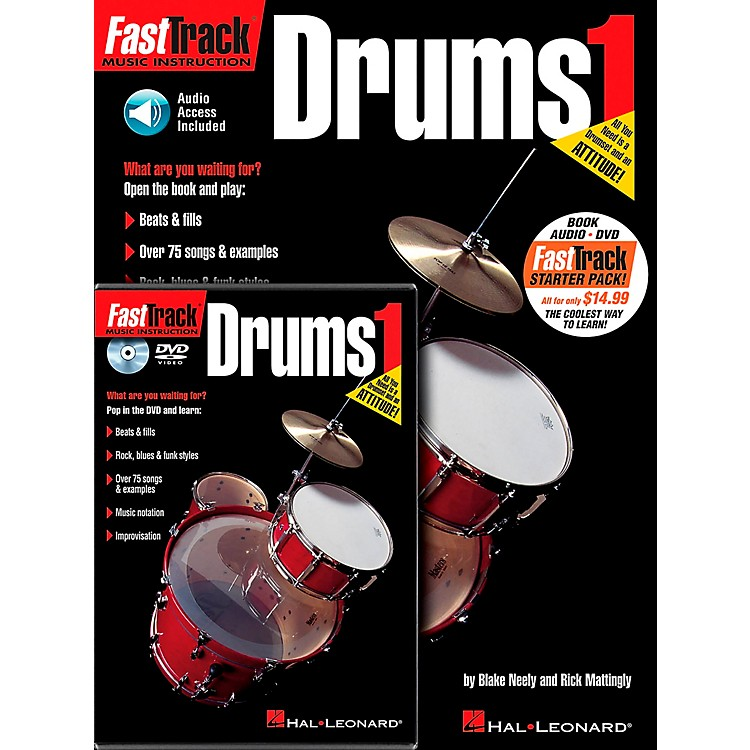 Hal Leonard FastTrack Drum Method Starter Pack - Includes Book/CD/DVD