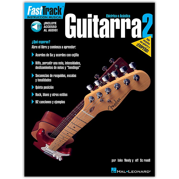 Hal Leonard FastTrack Guitar Method Book 2 Book/CD Spanish Edition