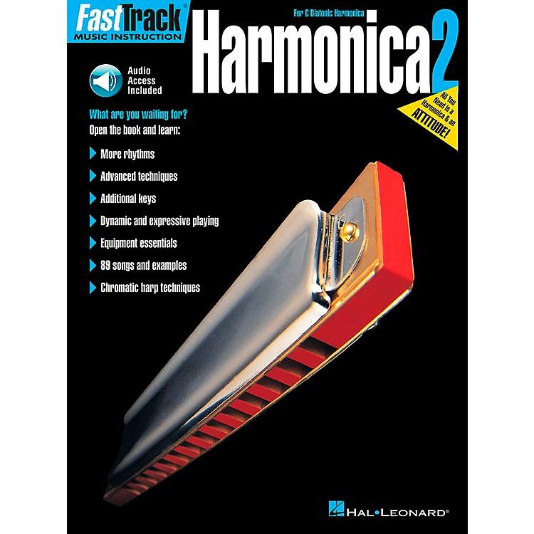 Hal LeonardFastTrack Harmonica Book 2 Book/CD for C Diatonic Harmonica