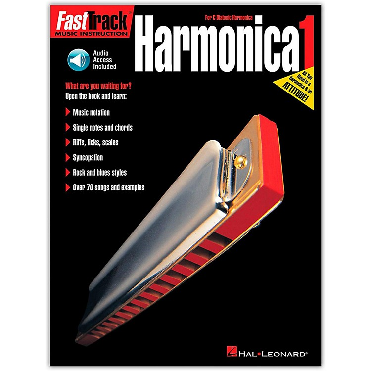 Hal LeonardFastTrack Harmonica Method Book/CD
