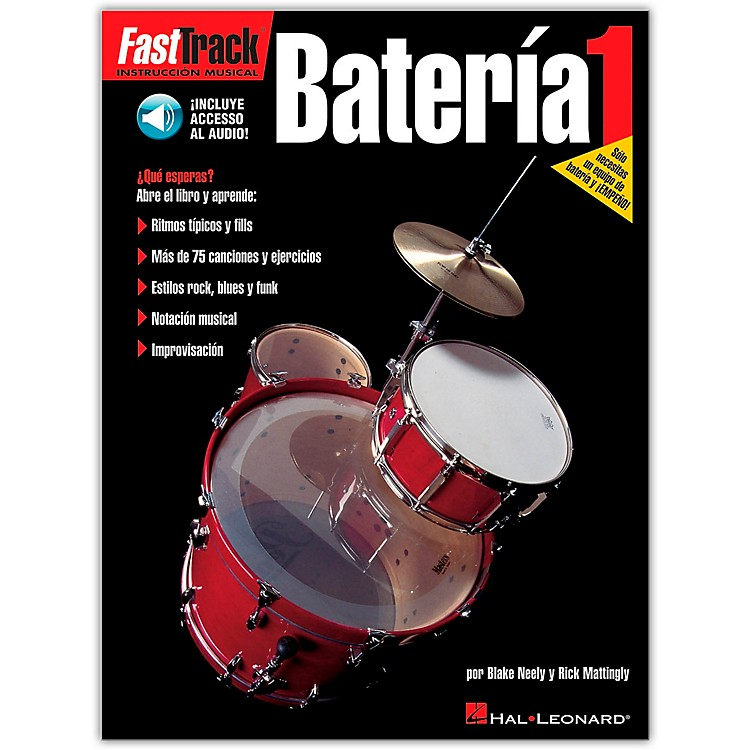 Hal Leonard Fasttrack Bateria 1 Book with CD - Spanish