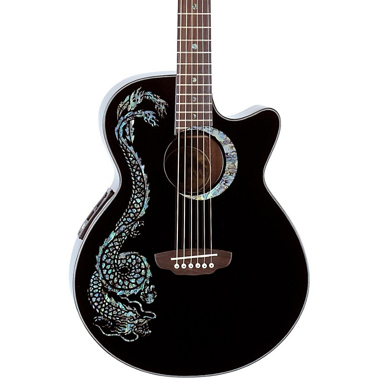 Luna Guitars Fauna Dragon Folk Acoustic-Electric Guitar