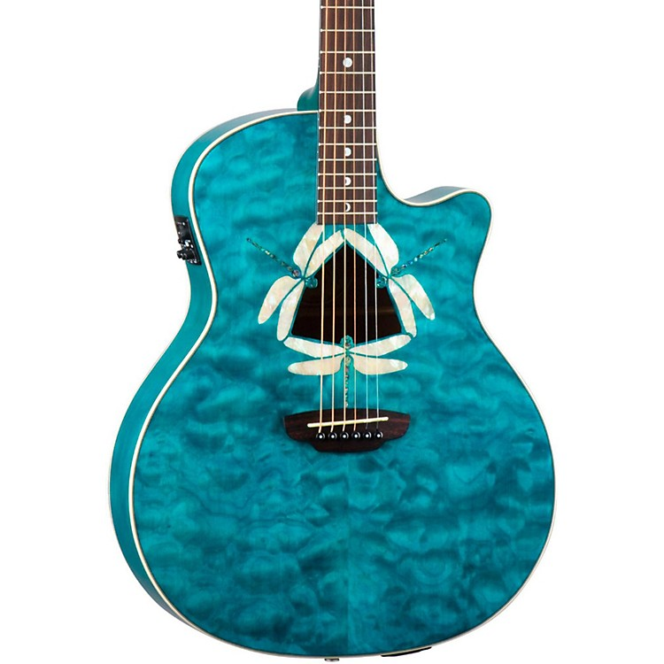 Luna GuitarsFauna Dragonfly Acoustic-Electric Guitar Quilted Maple Top