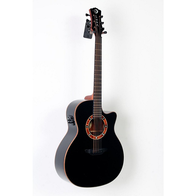 Luna Guitars Fauna Nox Acoustic-Electric Guitar  888365724256