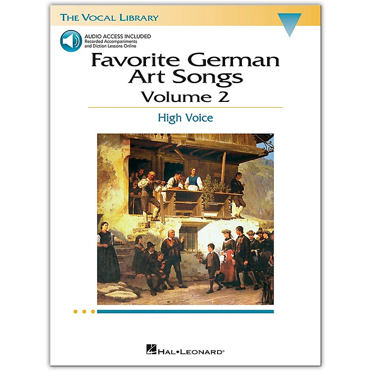 Hal LeonardFavorite German Art Songs for High Voice Volume 2 Book/CD