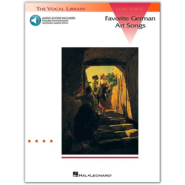 Hal LeonardFavorite German Art Songs for Low Voice Book/CD