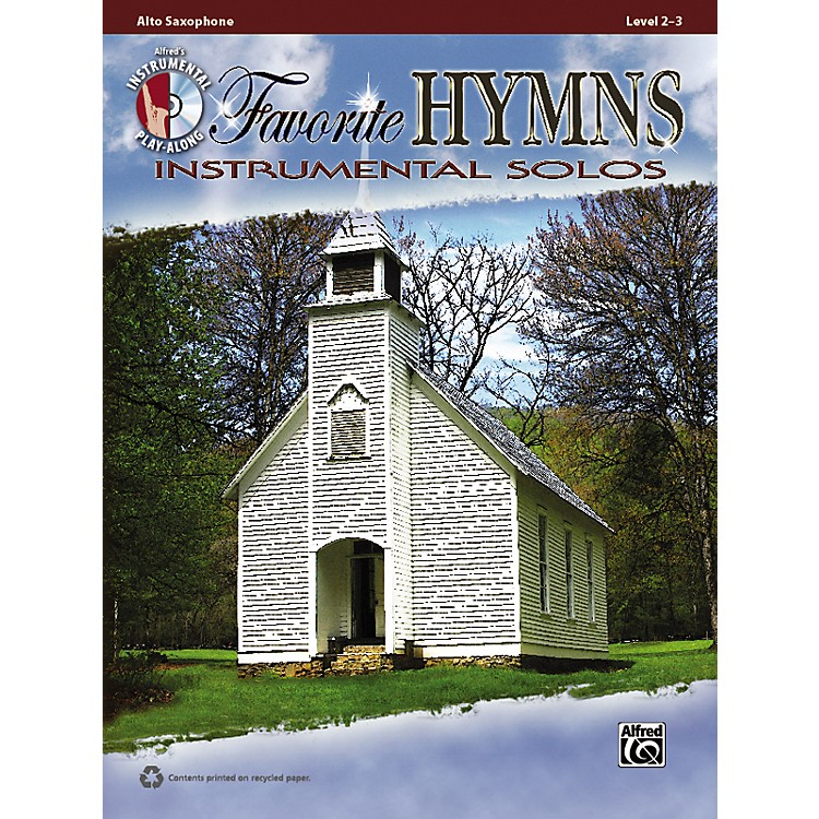 Alfred Favorite Hymns Instrumental Solos Alto Sax Book & CD