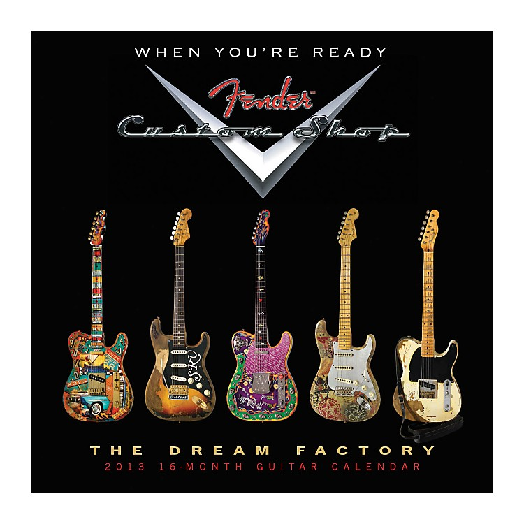 Hal Leonard Fender Custom Shop 2013 16-Month Guitar Wall Calendar