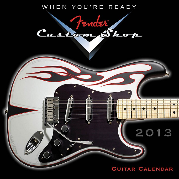 Hal Leonard Fender Custom Shop 2013 Mini Wall Guitar Calendar