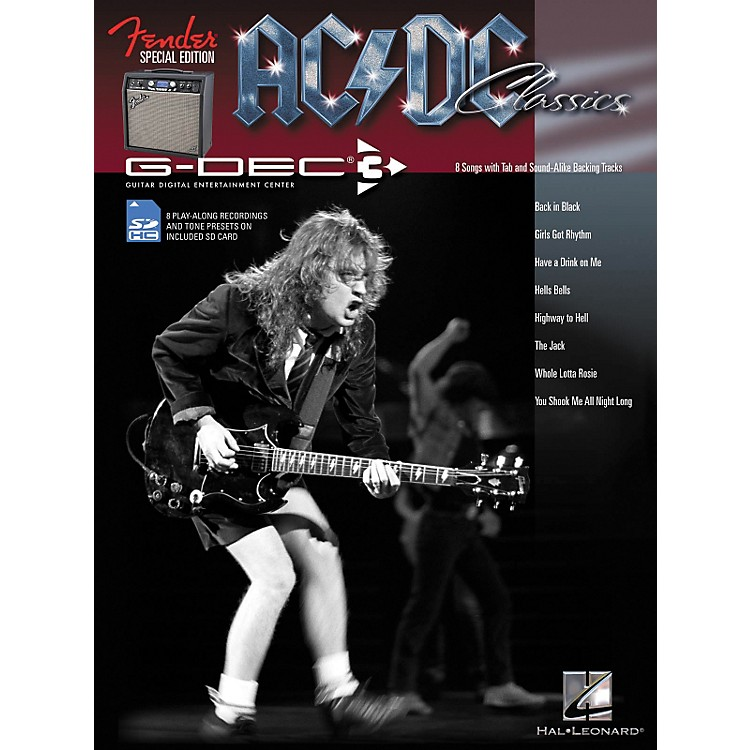 Hal Leonard Fender G-Dec AC/DC Play-Along Guitar Songbook/SD Card
