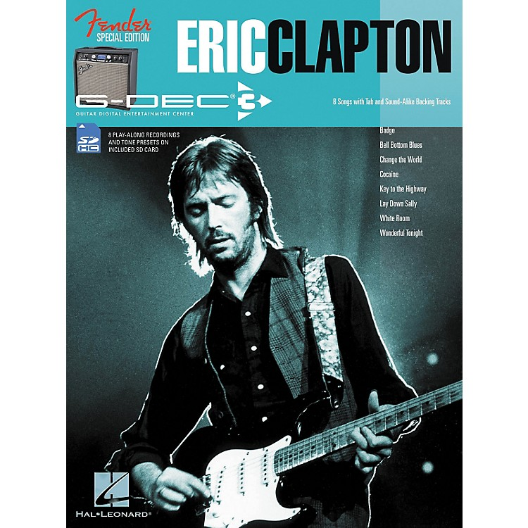 Hal LeonardFender G-Dec Eric Clapton Play-Along Guitar Songbook/SD Card