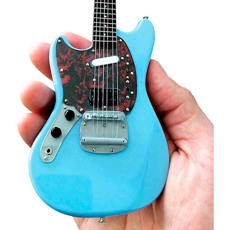 Axe HeavenFender Mustang Sonic Blue Miniature Guitar Replica Collectible