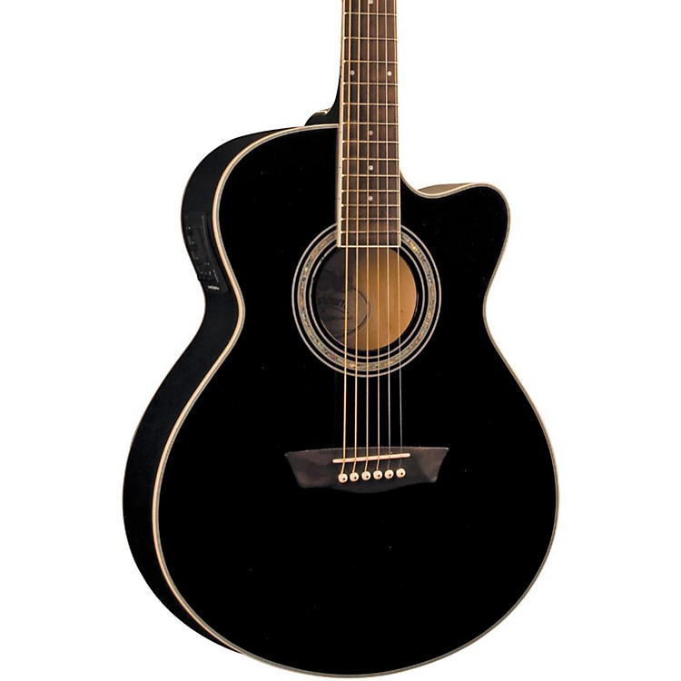 Washburn Festival EA12B Acoustic Cutaway Electric Mini Jumbo Guitar With 4-Band EQ
