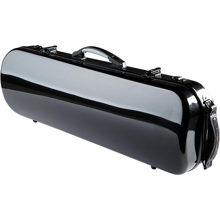 The String CentreFiberglass Oblong Violin Case4/4 Black