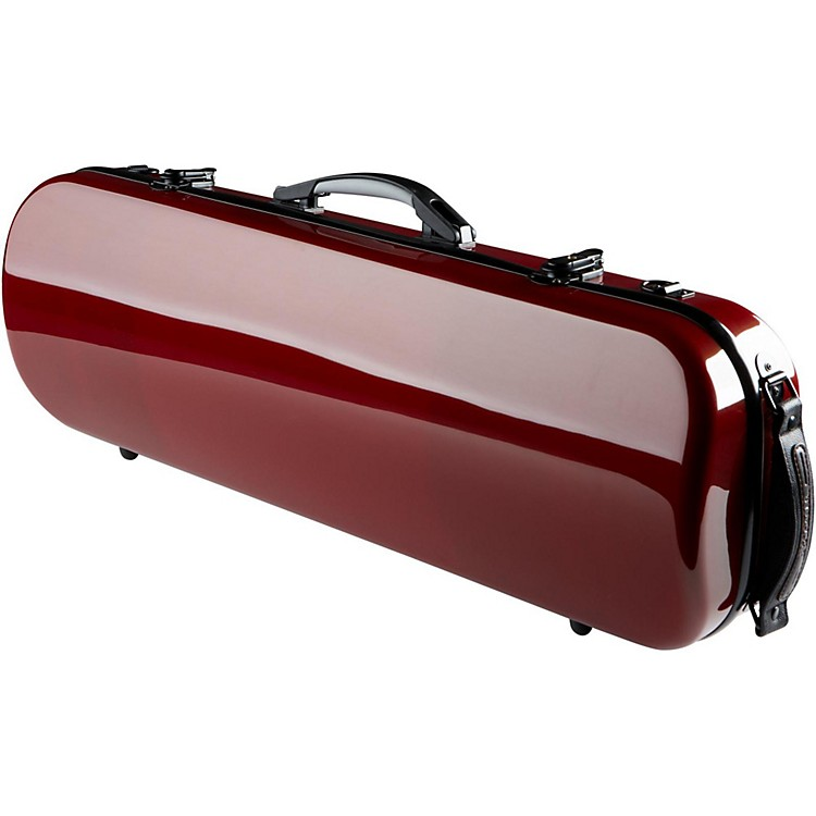 The String Centre Fiberglass Oblong Violin Case 4/4 Maroon