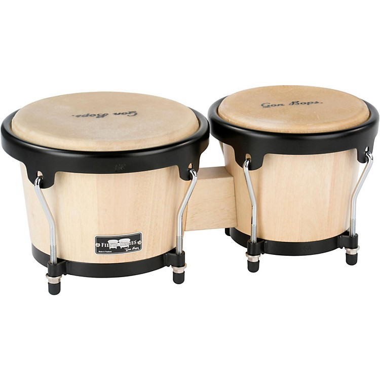 Gon Bops Fiesta Bongos Natural / Black Hardware
