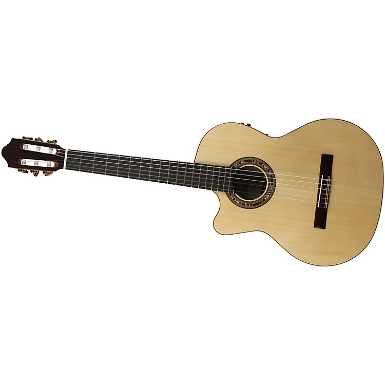 Kremona Fiesta F65CW Left-Handed Classical Electric Guitar Gloss Natural