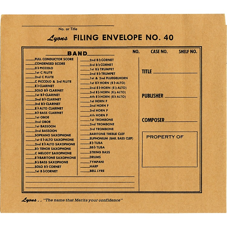 Lyons Filing Envelope