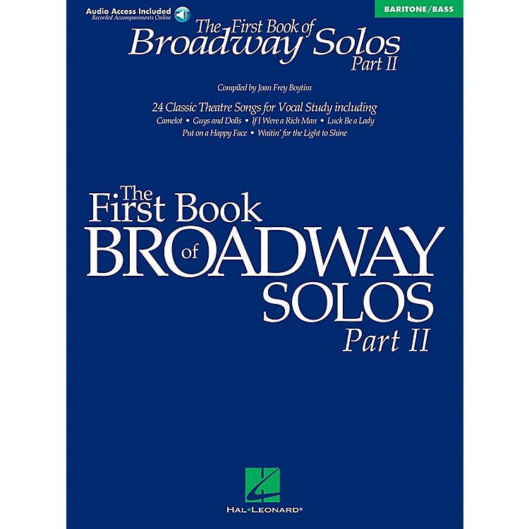 Hal LeonardFirst Book Of Broadway Solos Part II Baritone / Bass Book/CD