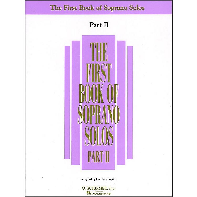 G. SchirmerFirst Book Of Soprano Solos Part 2