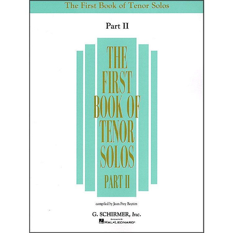 G. Schirmer First Book Of Tenor Solos Part 2