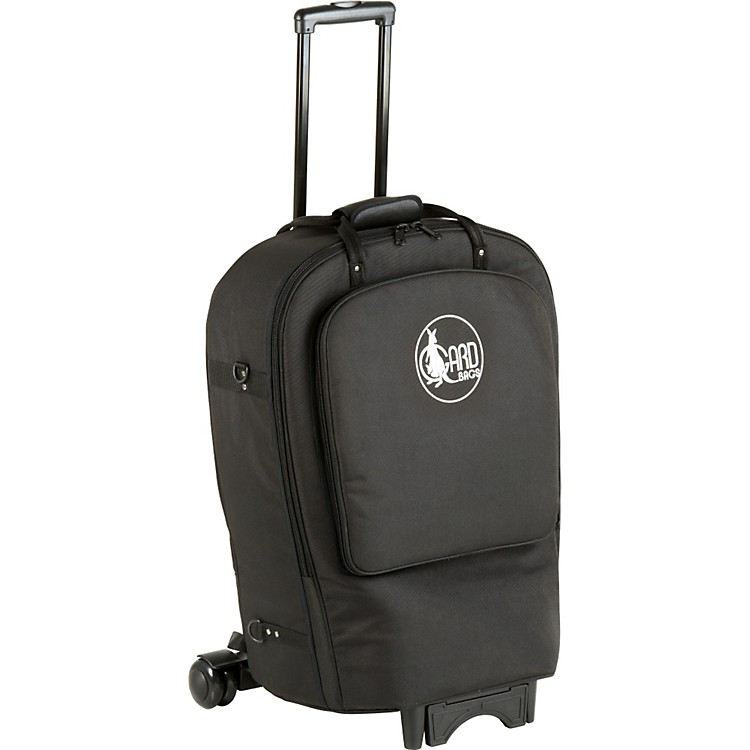 Gard Fixed Bell French Horn Wheelie Bag 41-WBFLK Black Ultra Leather