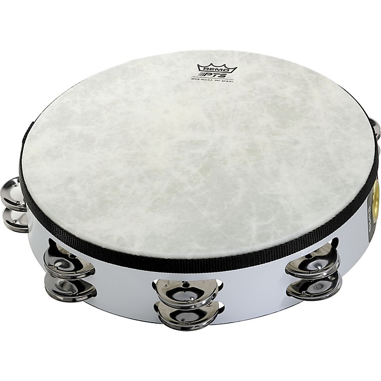 Remo Fixed-Head Tambourine White 8