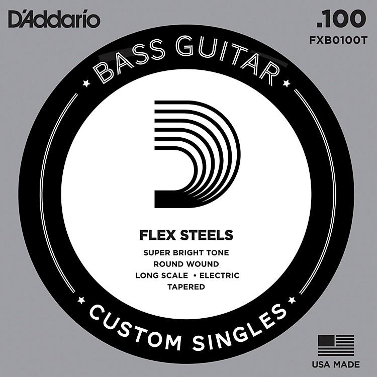 D'AddarioFlexSteel long Scale Tapered Single Bass Guitar String (.100)
