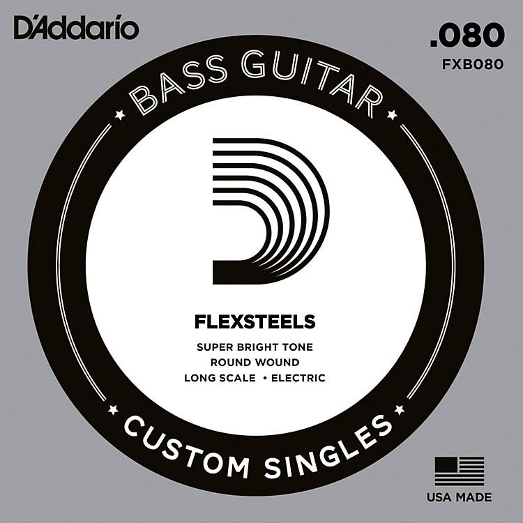 D'AddarioFlexSteels Long Scale Bass Guitar Single String (.080)