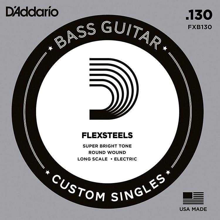 D'AddarioFlexSteels Long Scale Bass Guitar Single String (.130)