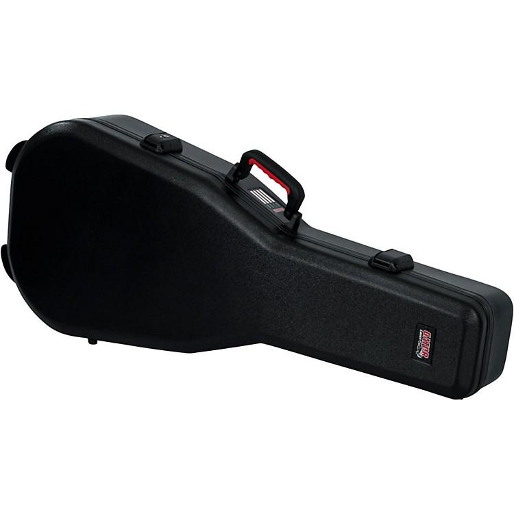 GatorFlight Pro TSA Series ATA Molded Acoustic Guitar CaseBlackRed