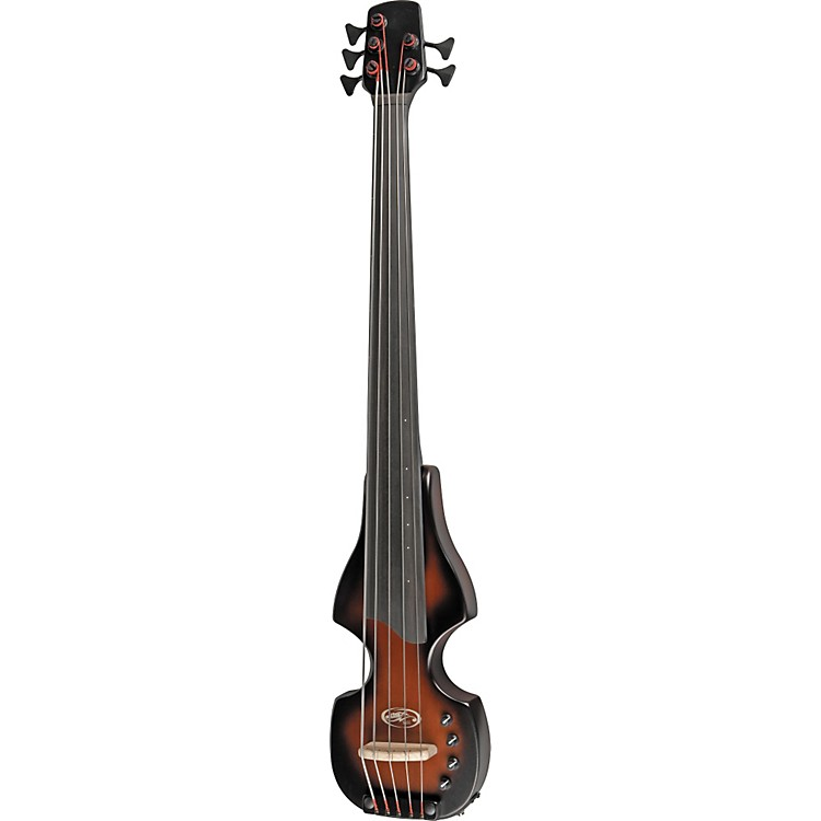 BSX Bass Flip Series 5-String Solid-Body Electric Upright Bass with Tripod Stand Nutmeg