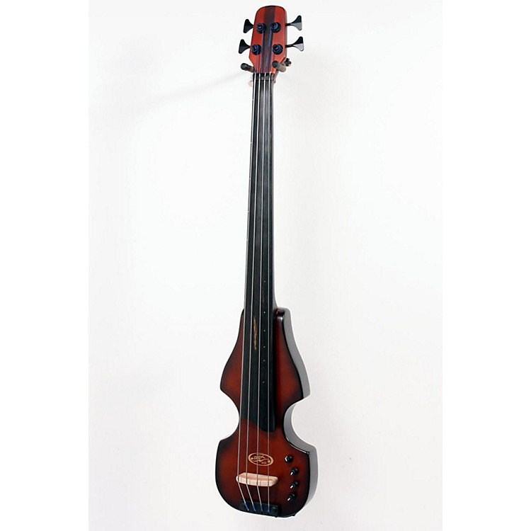 BSX Bass Flip Series Solid-Body Electric Upright Bass with Tripod Stand Nutmeg 888365051536