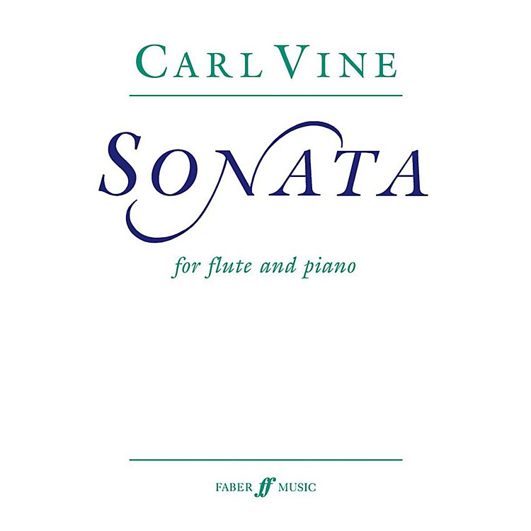 Faber Piano Adventures Flute Sonata for Flute By Carl Vine Book