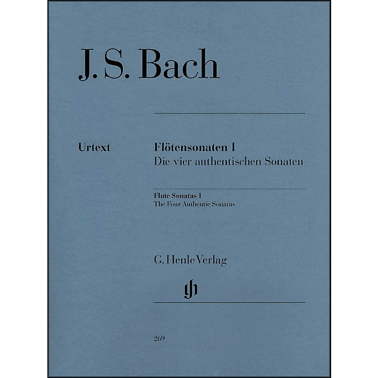 G. Henle Verlag Flute Sonatas - Volume I (The Four Authentic Sonatas - with Violoncello Part) By Bach