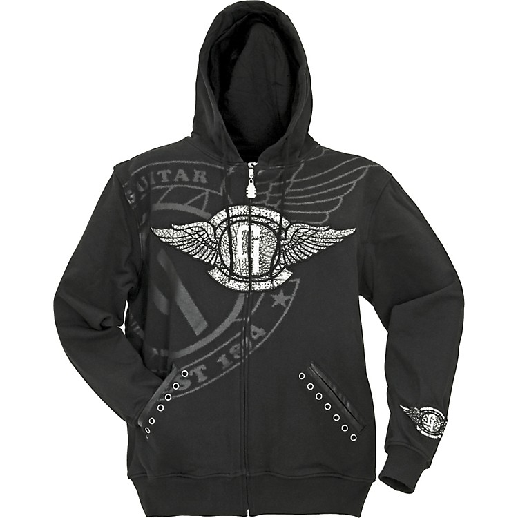 Gibson Flying G Hooded Sweatshirt Black XX Large