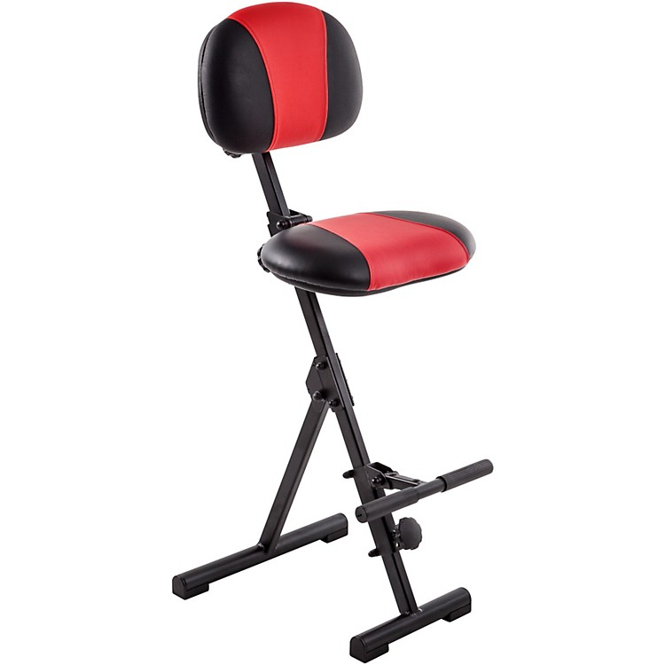 Mey America Fold Up Seat for Stage or Studio Red/Black