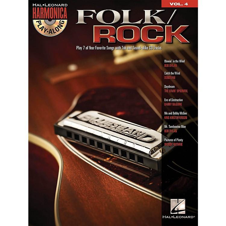 Hal LeonardFolk/Rock - Harmonica Play-Along Volume 4 (Book/CD)