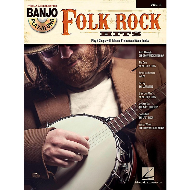 Hal Leonard Folk/Rock Hits Banjo Play-Along Volume 3 Book/CD