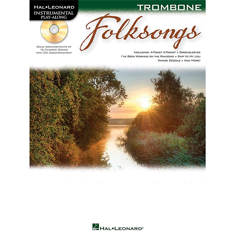 Hal Leonard Folk Songs For Trombone  Instrumental Play-Along Book/CD