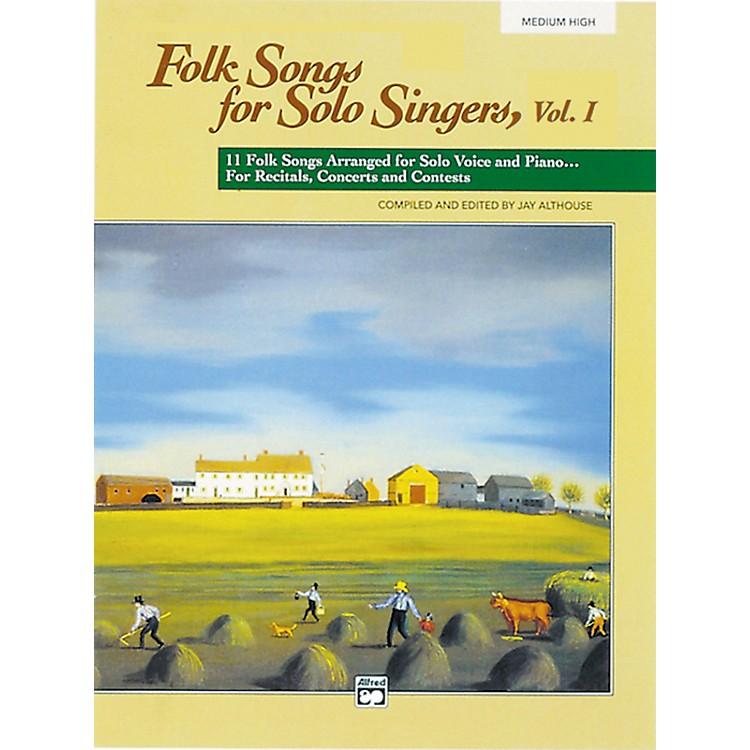 AlfredFolk Songs for Solo Singers Vol. 1 Book (Medium High)