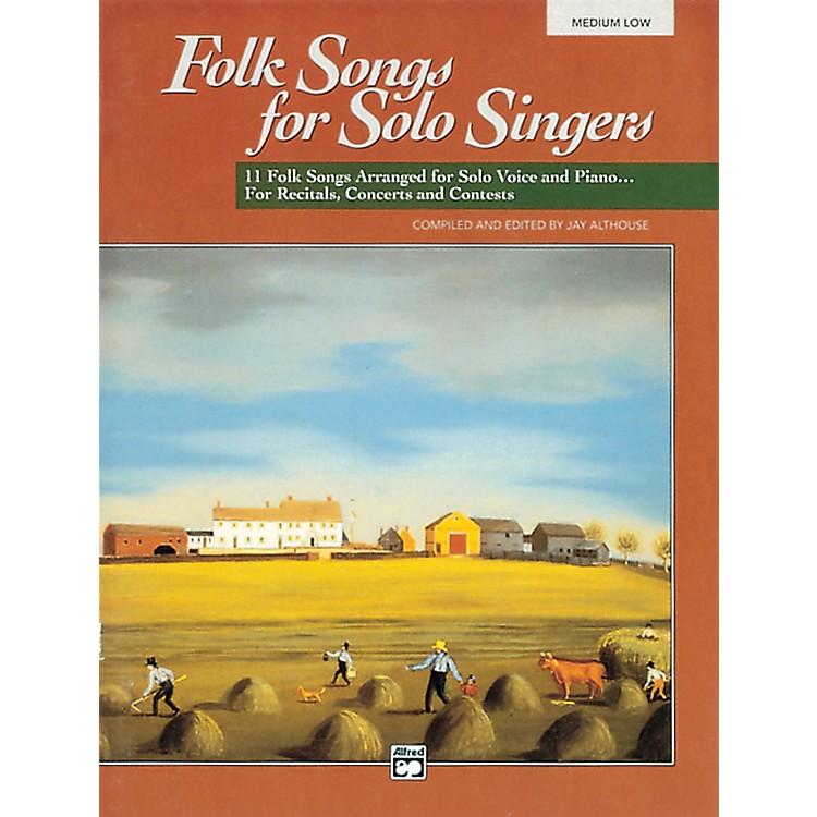 AlfredFolk Songs for Solo Singers Vol. 1 Book (Medium Low)