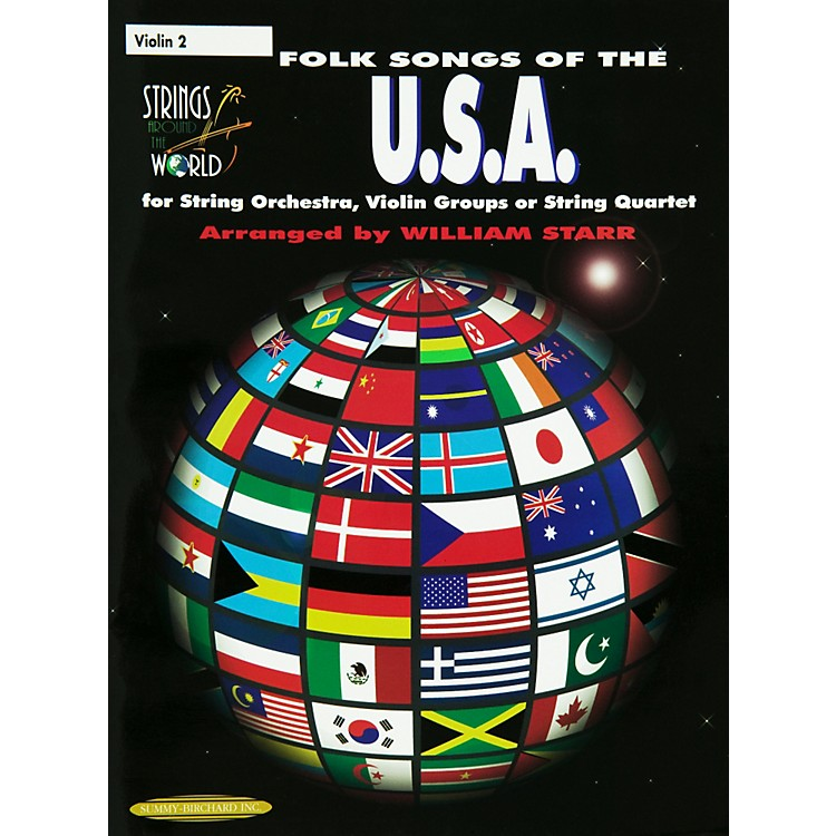 AlfredFolk Songs of the USA Violin 2 (Book)