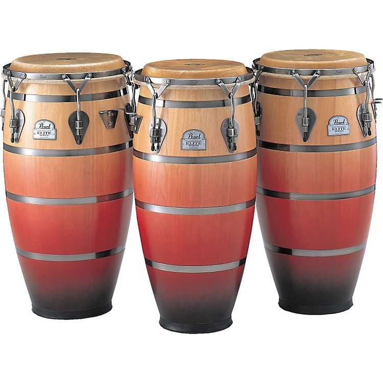 Pearl Folkloric Conga 11.75 in. Crimson Sunrise