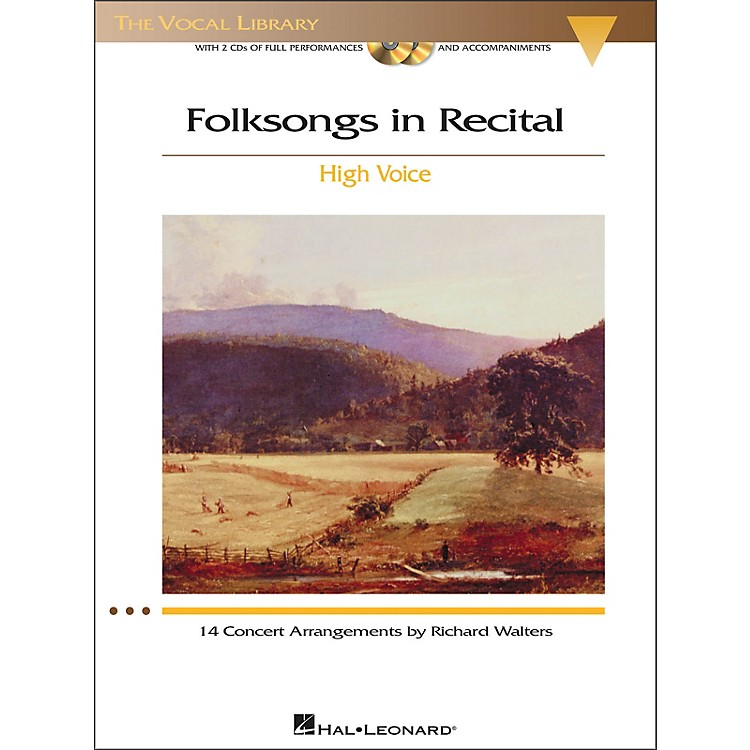 Hal Leonard Folksongs In Recital for High Voice Book / 2CD's