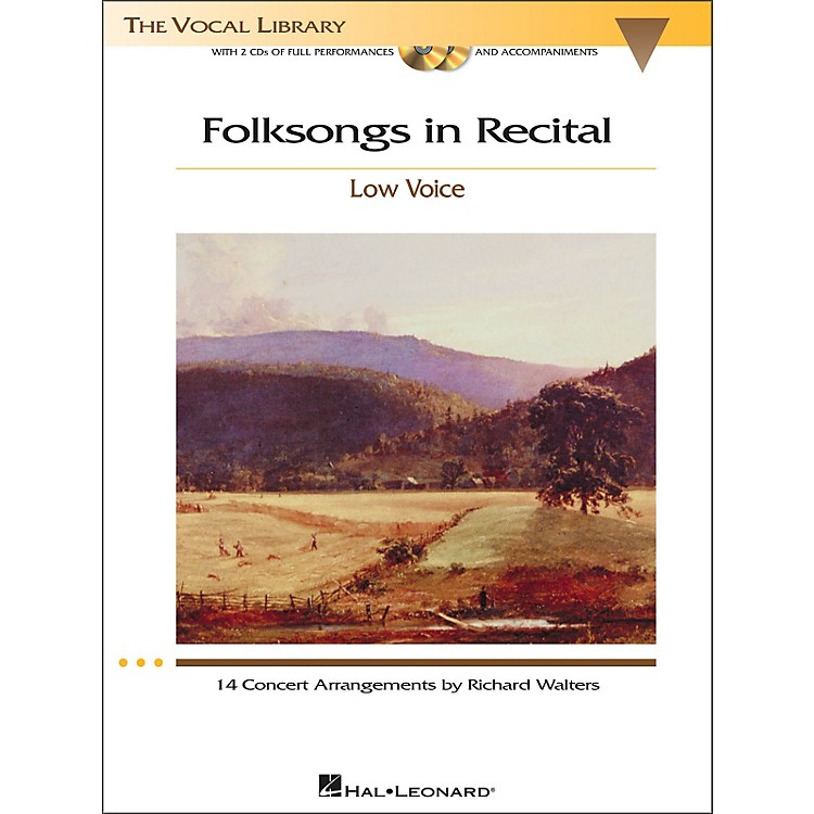 Hal LeonardFolksongs In Recital for Low Voice Book/2CD's