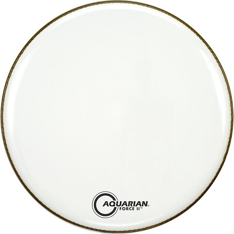 Aquarian Force II Resonant Bass Drum Head White 20 in.