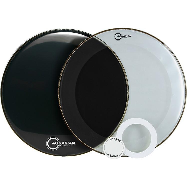 AquarianForce Series Bass Drum Head PakBlack20 in.